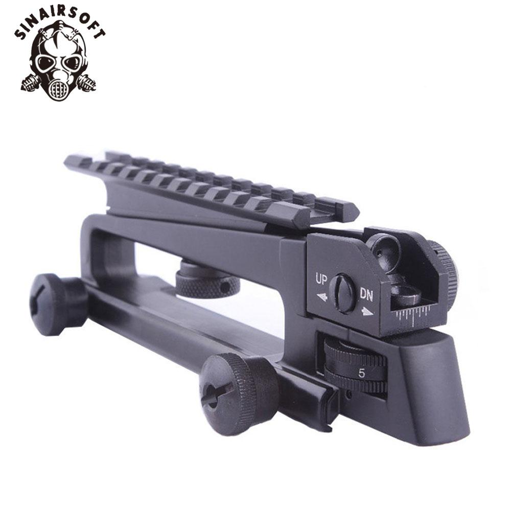 Metal Detachable Carry Handle with Dual Aperture rear Iron sight Picatinny Rail Mount Mechanical Rear Sight for M4 M16 AR15