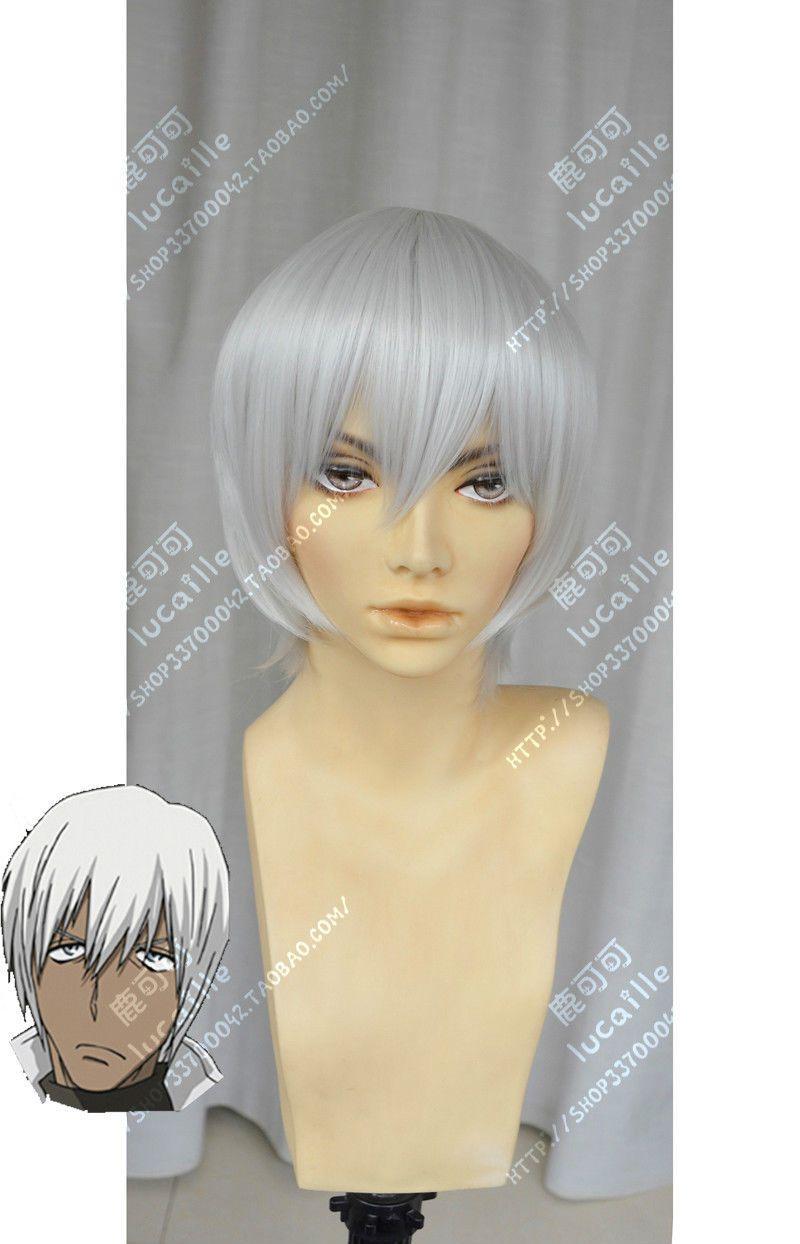 Bloqueio de sangue Battlefront Zapp Renfro curto prata branco Cosplay peruca de cabelo frete grátis nova alta qualidade moda peruca