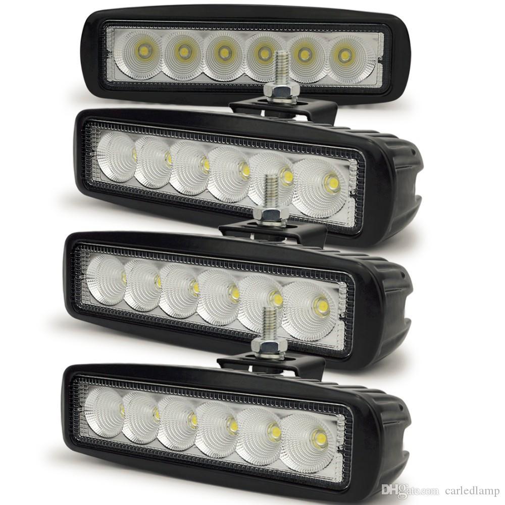 18W LED 6 Zoll Lichtleiste Modul Off Road Zusatzscheinwerfer Weiß 6000K für Toyota Motorcycle Tractor Auto