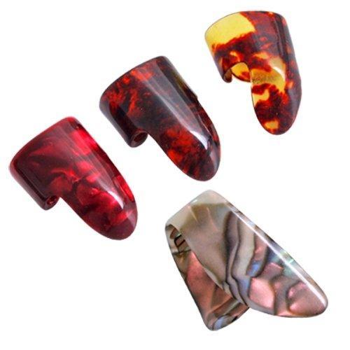 3 إصبع اللقطات + 1 الإبهام بيك Plectrums الغيتار البلاستيك