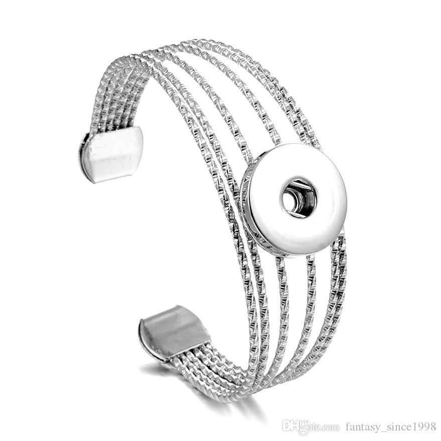 I lotti all'ingrosso all'ingrosso 10pcs Fashion 18mm scatta i braccialetti dei braccialetti dei bottoni di fascini dei monili delle donne DIY Brandnew