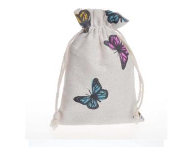 Sacchetti di cordone di tela di lino farfalla, sacchetto di lino Sacchetto di imballaggio di imballaggio Sacchetti di gioielli di lino Sacchi per la festa di compleanno di Natale Doccia Compleanno