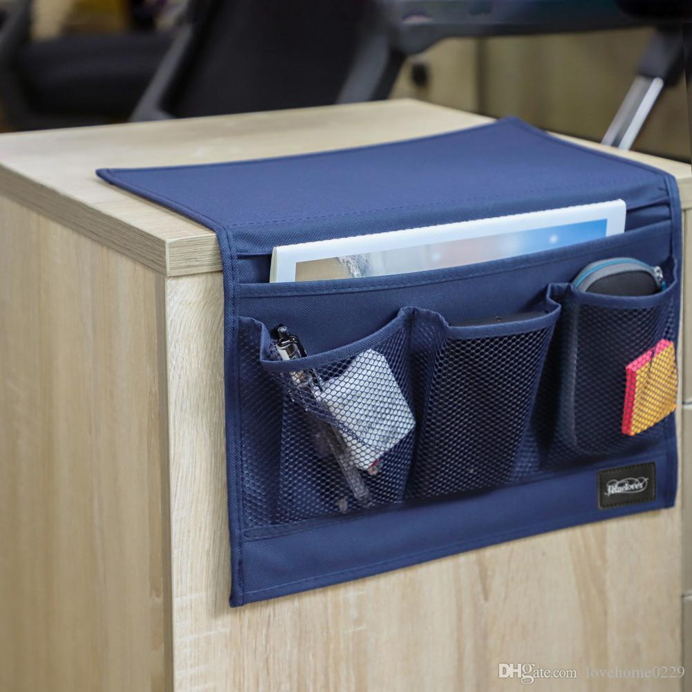 Bedside Organizer Portable Storage Bag Hanging Armrest Pockets Organizer Sofa Armchair for Remote Control Phone Book Magazine
