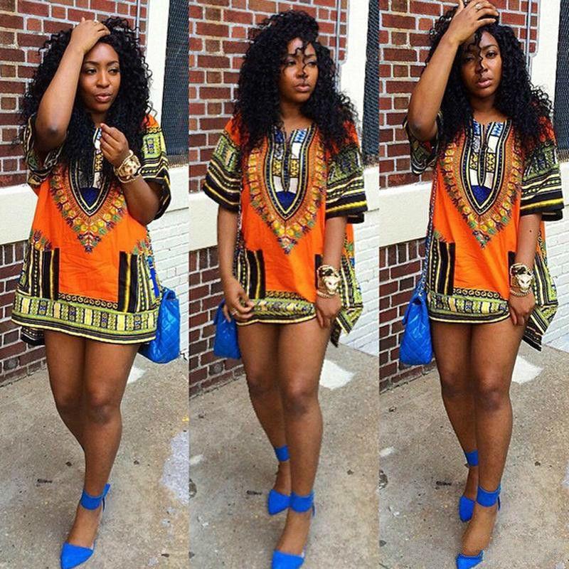 Women Mini Club DRESS Fashions AFRICAN DASHIKI SHIRT KAFTAN BOHO HIPPIE GYPSY FESTIVAL TOP Wholesale Woman Dresses Models