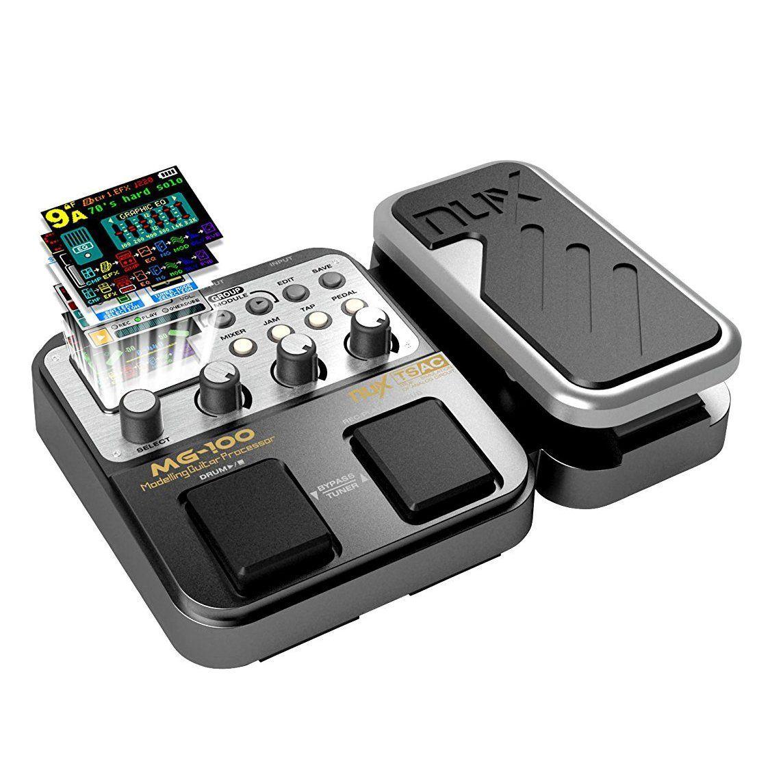 MG-100 Procesador de pedales multiefectos profesional para guitarra bajo violín 40s Grabación 55 Modo de efecto 10 Sound Di Box Bajo guitarra eléctrica