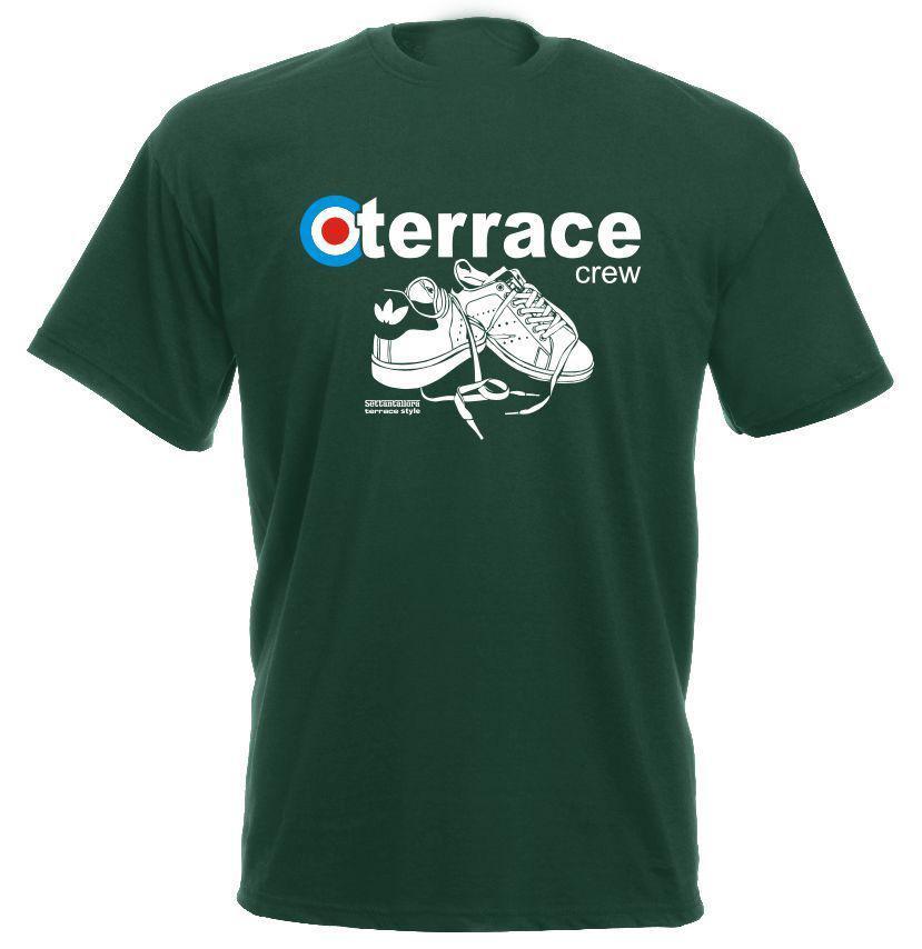 2018 Summer T-Shirts For Men Hot Sale Hot Sale Clothes Terrace 100% Cotton Hooligans Footballer Casual logo Tee Shirts