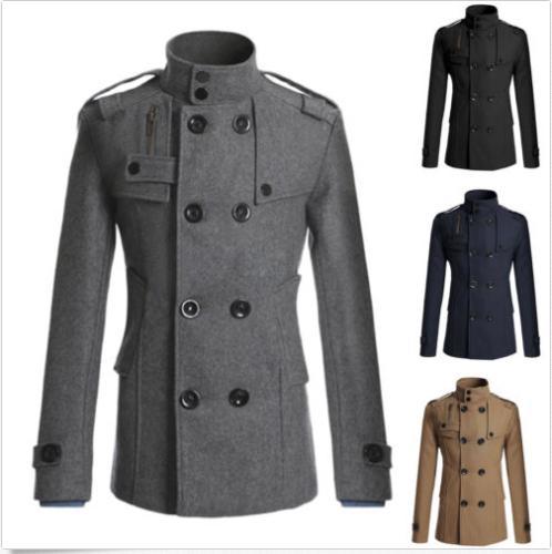 Mantel Bida Herren Outwear Warm Klassischen Farben Retro Großhandel Zweireiher Peacoat Von 4 Größe Woll Chinesischen Jacke Stilvolle Winter Kaschmir W2YDIEH9