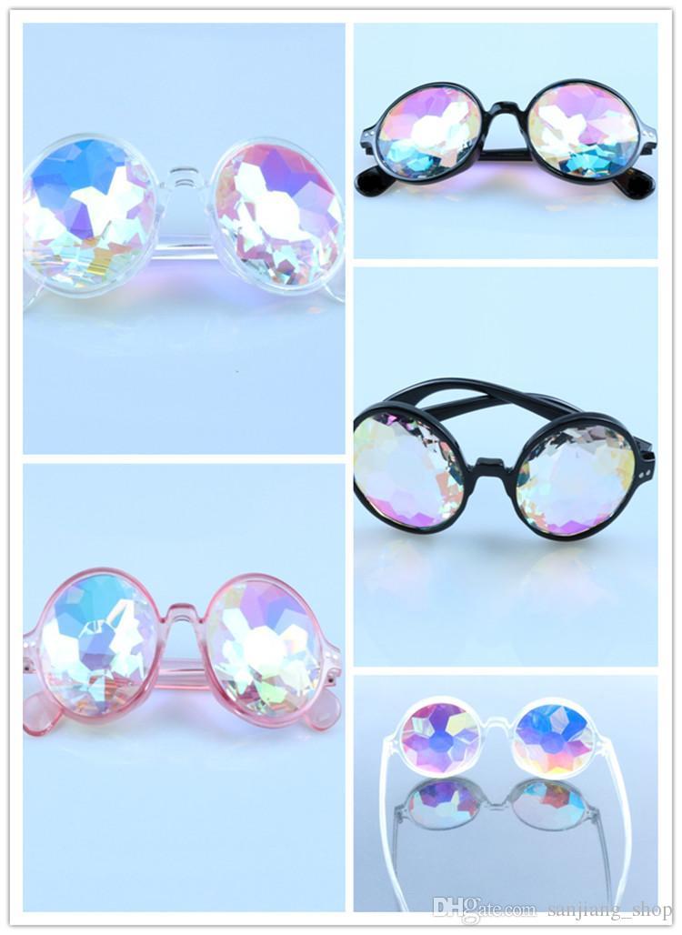 2019 Moda Kaleidoscope Óculos Caleidoscópio óculos festival de música viajar óculos de sol caleidoscópio Sunglasses partido para mulheres dos homens
