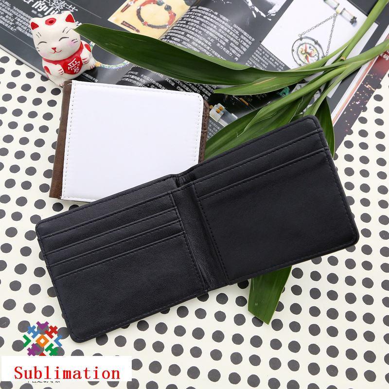 portafoglio per la borsa di sublimazione moneybag per gli uomini può stampare il tuo design personalizzato stampa a trasferimento termico portafogli in bianco stile corto