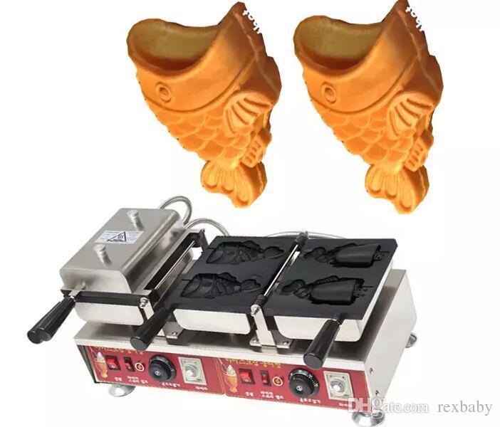 تكلفة الشحن مجانا الكهربائية الكورية نمط ذيل السمكة آلة الآيس كريم taiyaki