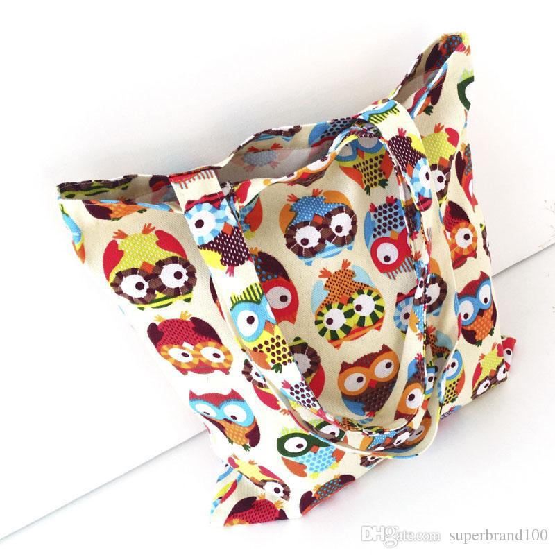 Canvas Tote Lässige Strandtaschen Große Kapazität Faltbare Einkaufstüten Wiederverwendbare umweltfreundliche Supermarkt-Einkaufstasche Reisehandtasche