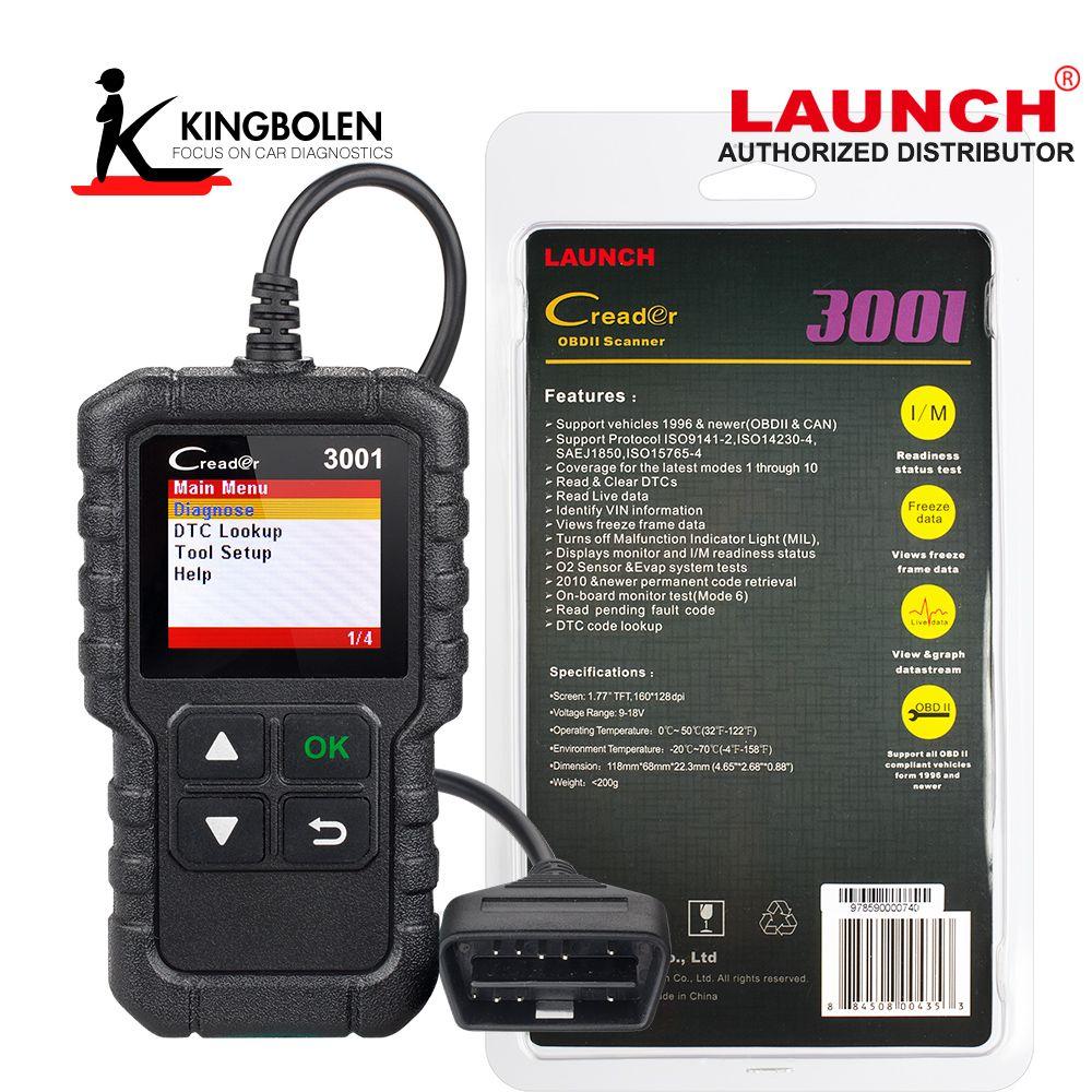 Luanch Creader 3001 OBD2 Scanner OBD2 Fault Code Reader Scanner OBD II Car Engine Diagnostic Tool Launch Code Creader
