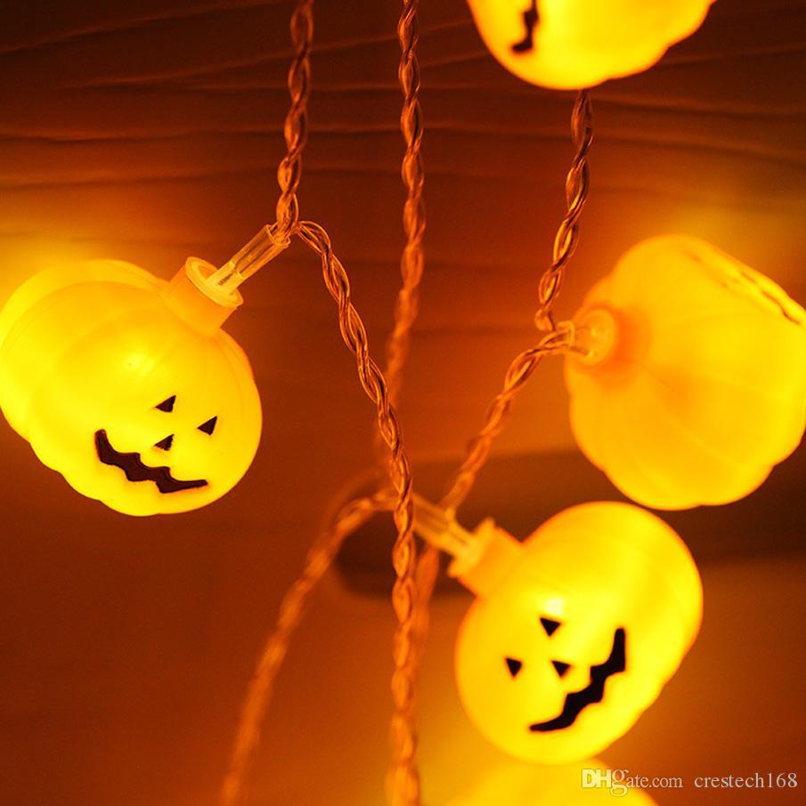 Cara de la sonrisa Punpkin cadena Luz de Navidad LED String Light Fairy Garland Fiesta de cumpleaños Jardín Cortina decoraciones para el hogar