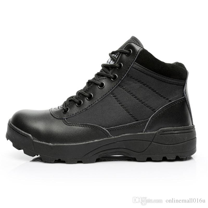 Erkekler Açık Taktik Spor Çizmeler Kaymaz Trekking Tırmanma Çizmeler Ultra Hafif Dantel Kadar Ayak Bileği Çizmeler