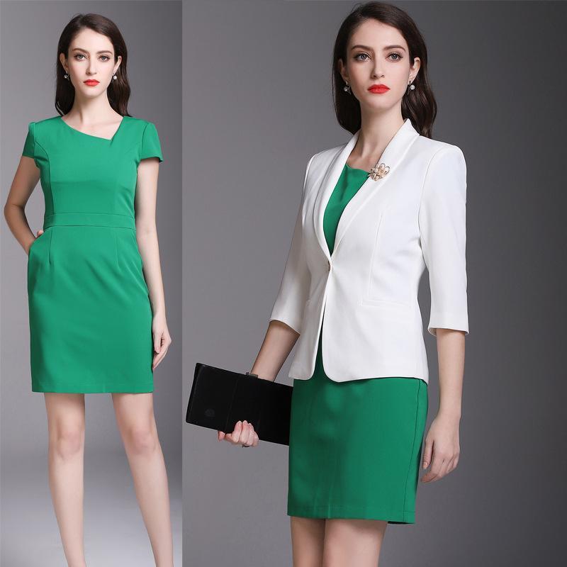 High-End-Berufsbekleidung, Frühling und Herbst Anzug, modische Kleidung, Geschäft, Pendler Anzug, Rock, großer Rock.