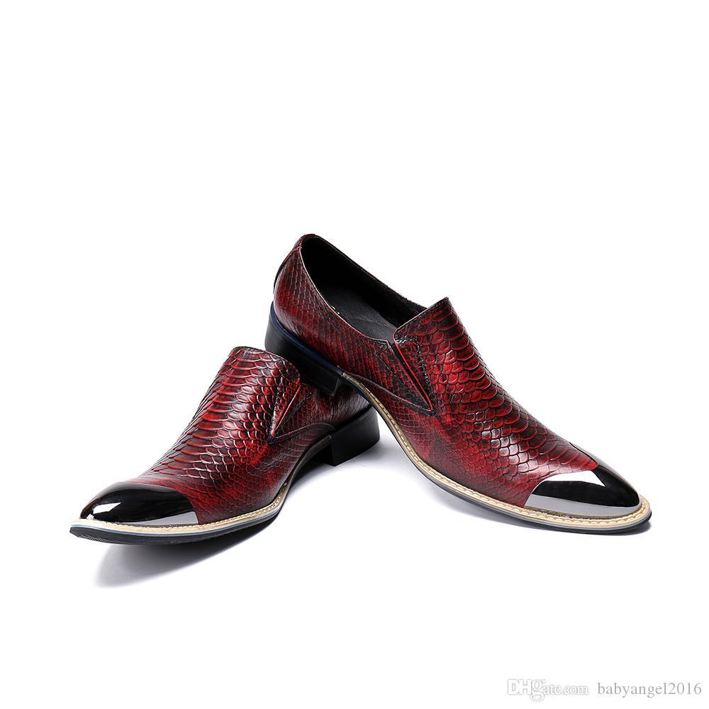 Neue britische Art-Schlange-Muster-echtes Leder-Mann-Schuh-Beleg auf Hochzeits-Kleid-Schuhen männlichen Geschäfts-Oxford-Schuhen