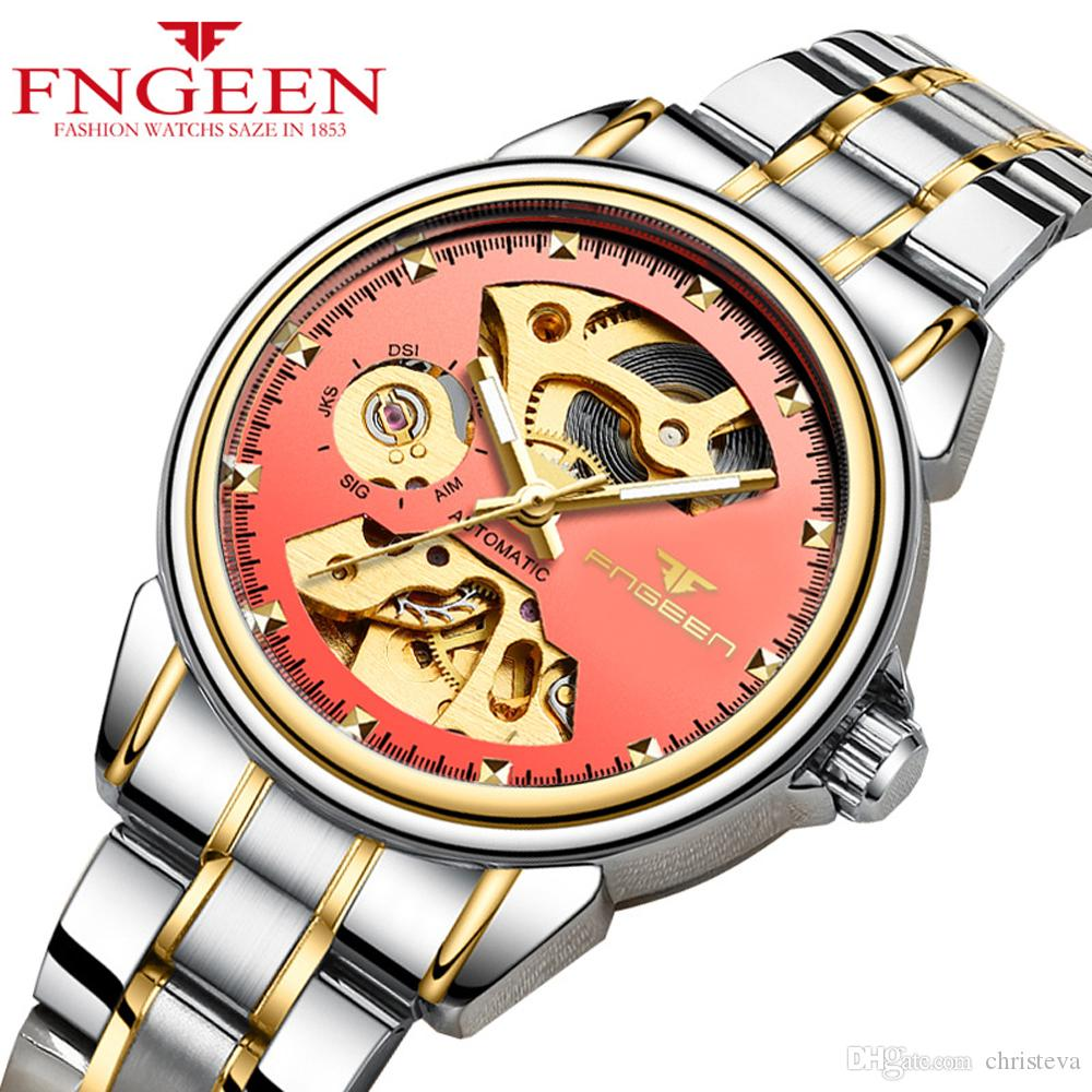 be46e75f3 Women Watches 2018 Top Brand FNGEEN Watch Fashion Luxury Self Wind  Automatic Watch Female Hodinky Skeleton Tourbillon Mechanical Watches