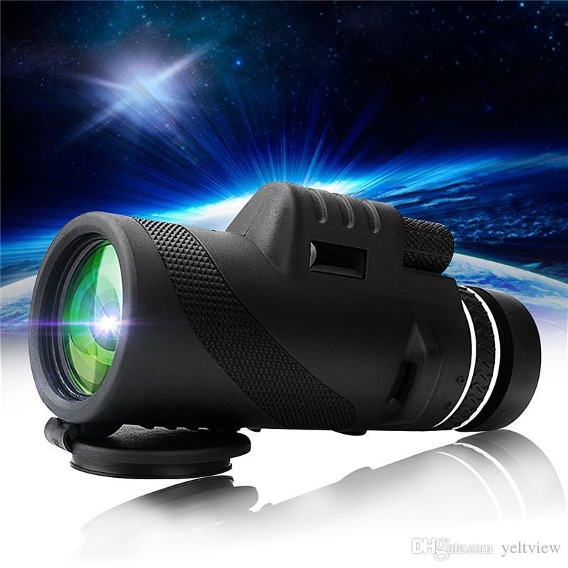 Telescopio de visión nocturna Binoculares de doble enfoque HD Óptica Zoom Telescopio monocular Super Clear para exteriores de caza Camping Senderismo