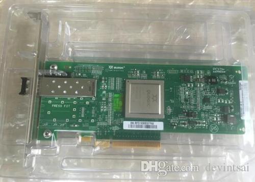 Para Qlog2560 QLO2560 porta única placa de HBA PCI-E Fibre Channel de 8 Gb com módulo SFP