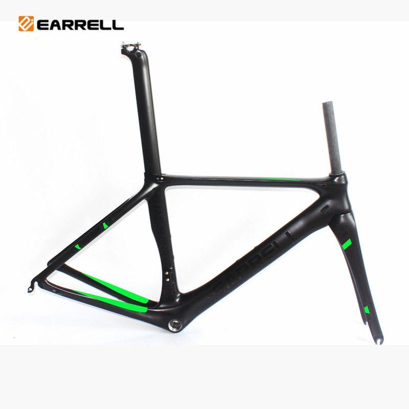 EARRELL الكربون الطريق الدراجة الإطار الإطار الطريق برومبتون الثابتة والعتاد إطارات الدهون الدراجة الكربون دراجة الإطار