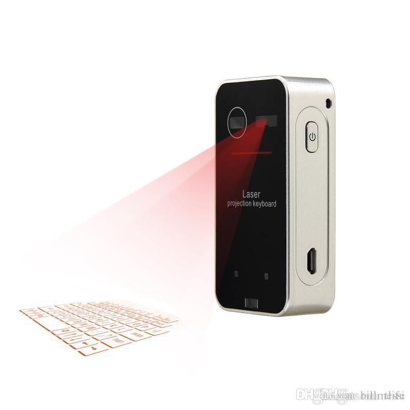 Smartphone PC Tablet Dizüstü Bilgisayar için Bluetooth Lazer Projeksiyon Klavye Sanal Klavye İngilizce QWERTY Lazer Klavye