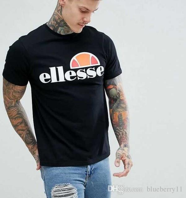 T-shirt à imprimé classique pour hommes à la mode noir gris Top Tee Cotton Print T-shirts à col rond pour hommes d'été