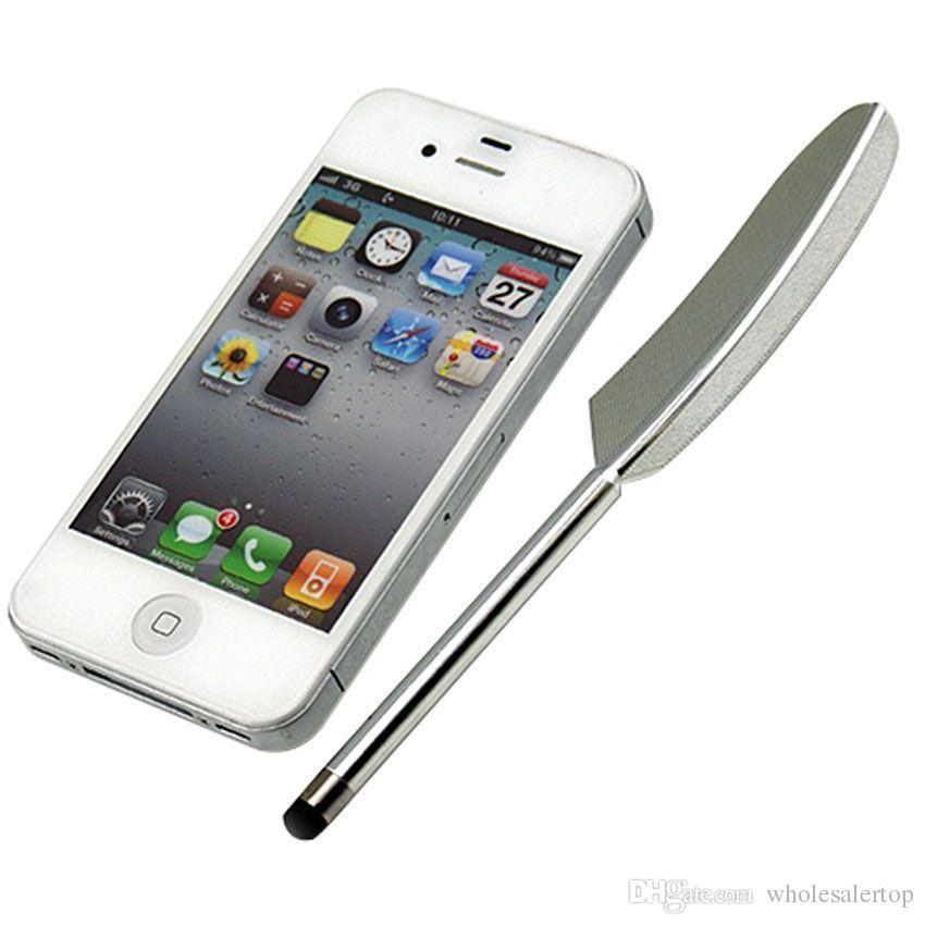 Penna capacitiva pennino stylus touch screen per iPhone X 8 7 6s 6 Samsung S8 S9 Tablet PC novità 1000pcs / lotto