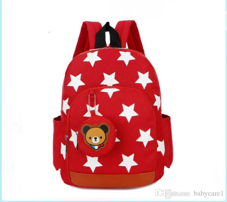 Schultaschen Art und Weise Kinder Taschen Nylon Kinder Rucksäcke für Kindergarten-Schule-Rucksäcke