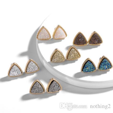 Boucles d'oreilles bijoux Saillie femmes triangle géométrie simple, Acrlic cristalline mode chaud sans expédition