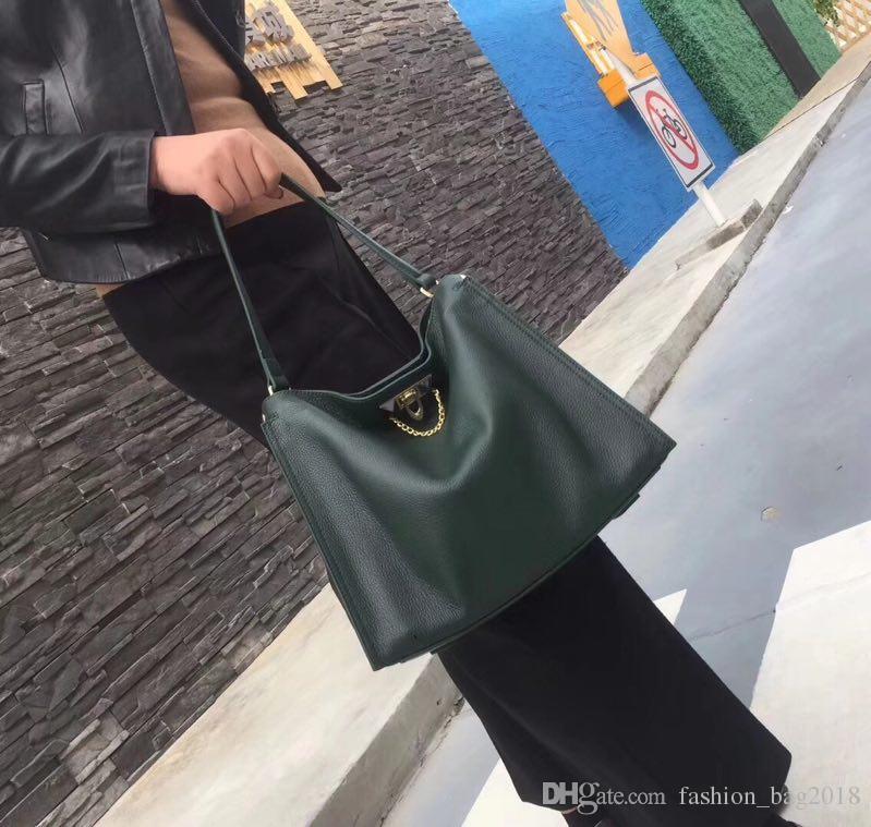 2018 new Hot Moda Evening Pacote verde Carteiras de Designer Do Vintage Das Mulheres Cadeia De Couro Cruz Sacos de Ombro Do Corpo