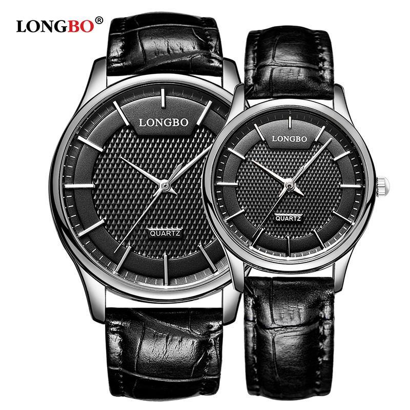 Lonjo reloj mujer hombre moda casal relógio de couro de luxo das mulheres dos homens relógios casuais amantes à prova d 'água de quartzo relógio de pulso 80301 s924w