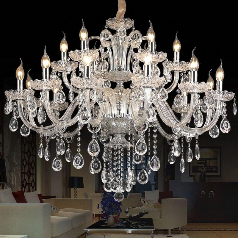 lustre de cristal Luz Modern Crystal teto lâmpada Sala Home Lighting Cristal Top K9 luz do candelabro pendant