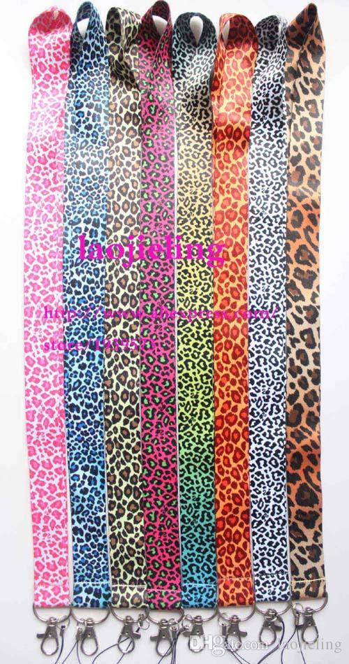 NUEVO Leopard print Popular Cell Phone Straps Lanyard Necklace Chain Cadena E-Cigarette teléfono tarjeta de identificación de la cámara cuerdas de seguridad MIX diseño 8