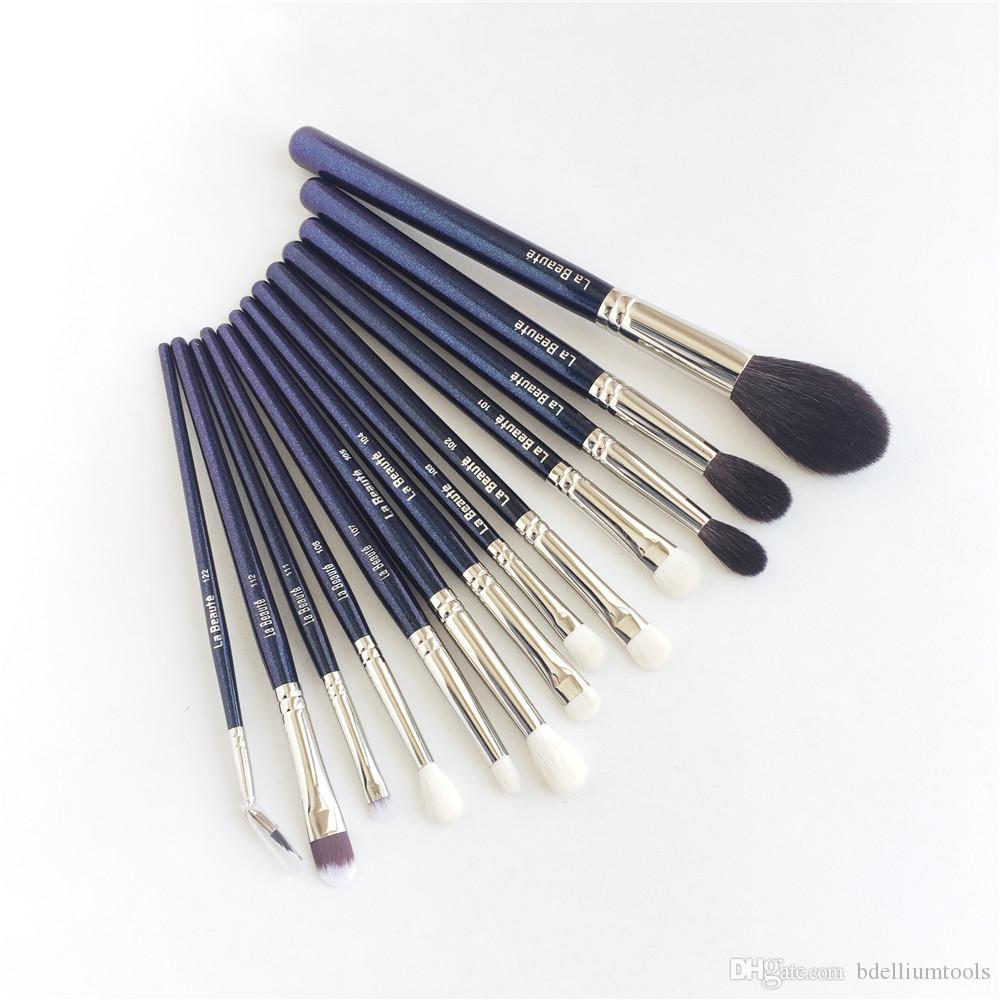 مجموعة فرش لابوت بروفيشنال المتكاملة - مجموعة من 13 قطعة بجودة عالية للعين من شعر الماعز - مجموعة أدوات فرش ماكياج الجمال