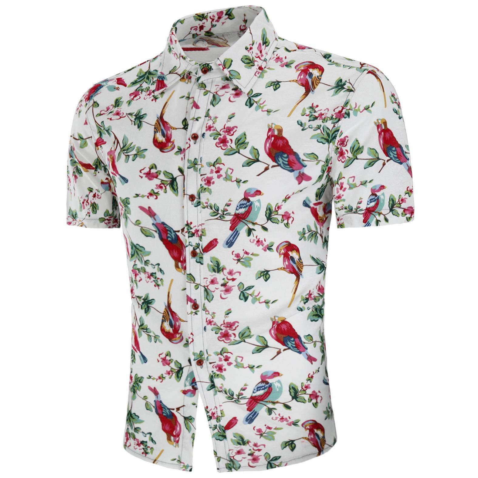 세련된 여름 새 여름 새 남성 반팔 셔츠 린넨 셔츠 레저 및 편안한 돈