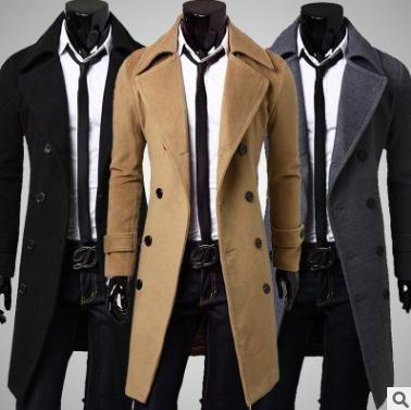 En Tricolore Pour Style Kaki Acheter Manteau Nouveau Hommes Coupe Gris Simple Laine Vent Homme Double Boutonnage 3xl Noir Allongement fyYb76Imgv