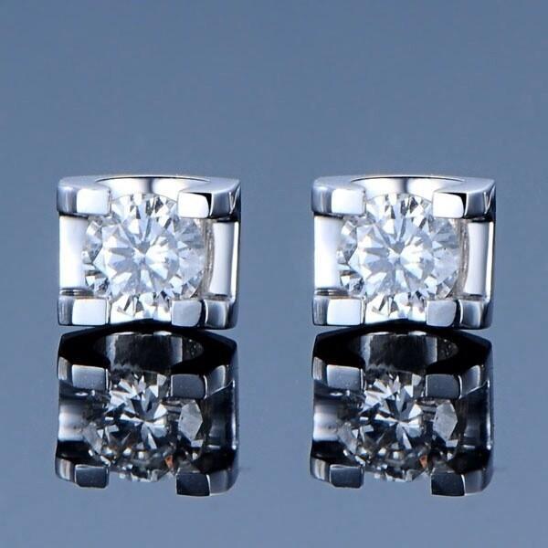 Sıcak Satış Narin Kalite 0.6ct / çifti Sentetik elmas saplama küpe düğün sevgililer Günü Hediye Gümüş Takı kadınlar için