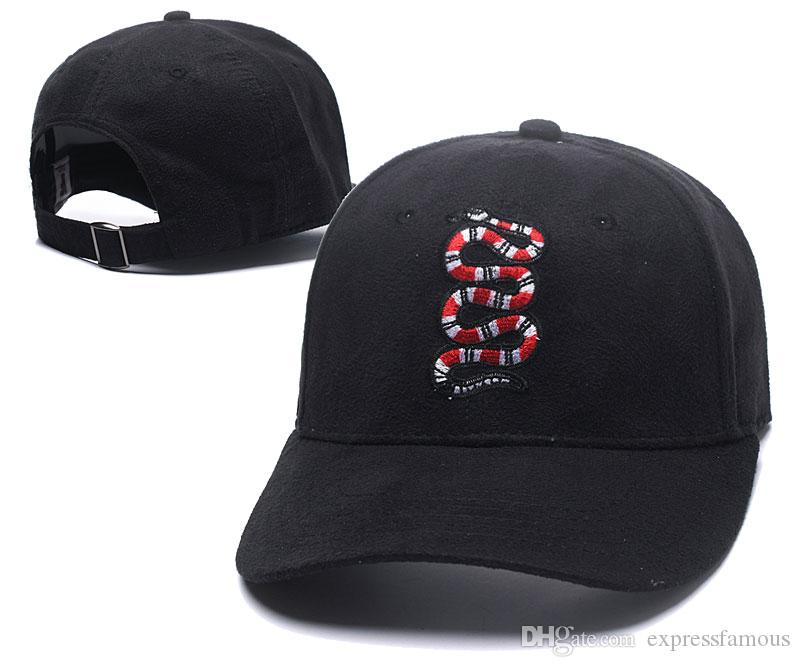 New Fashion Snake Baseball Cap sports hat snake cap for men women hip hop Flat sun skateboard Black snapback casual visor hats