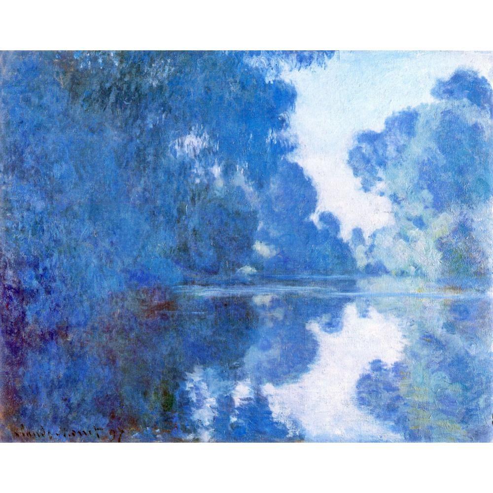 Claude Monet tarafından el yapımı yapıt tuval resimleri Sabah Seine resim üzerinde yatak odası için dekor