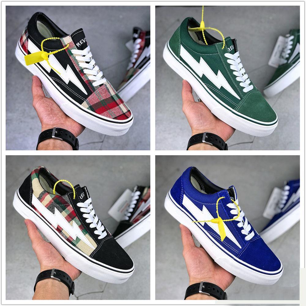 Erkekler Rahat Ayakkabılar İntikam X Fırtına Eski Skool Tasarımcı Cavnas Sneakers Bayan Erkek Low Cut Kaykay Kırmızı Mavi Beyaz Siyah Rahat Sneaker Ayakkabı