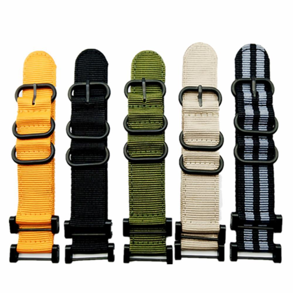 Watch Band cinta de nylon Zulu pulseira 24MM de um conjunto de Adaptadores & Tools 5 Color rápida de secagem para Suunto Core Series Traverse