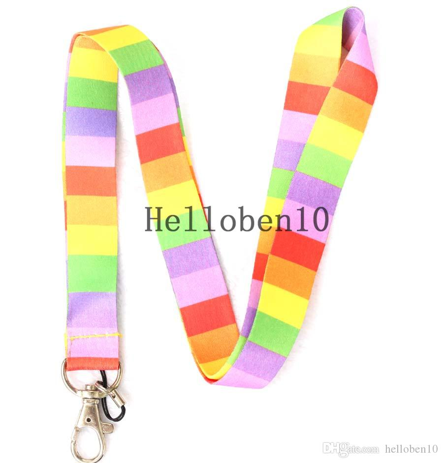 10 key chain phone lanyard coloured patterns can also be used for hanging mobile phones.