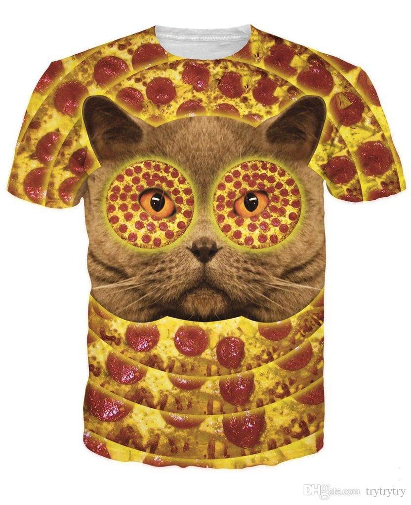 Venta al por mayor de alta calidad nuevo verano Unisex 2018 nuevo Wellcoda Angry Cat Evil Eye camiseta para hombre, Kitty Graphic Design Printed Tee Ypf130