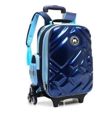 3D мешок вагонетки мальчика с колесами для школьников прокатки мешок на колесах детская дорожная сумка 6 колеса школьной тележки рюкзак Y18110107