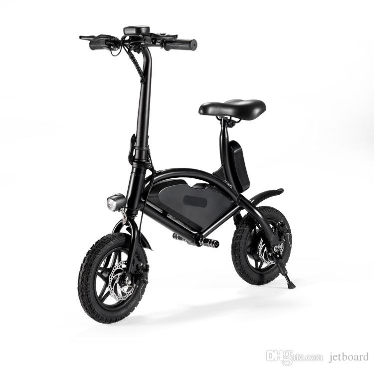 Jetboard Jbolt-Blk Bolt Portable Folding Electric Bike Scooter-Rechargeable Battery Powered Ebike-Easily Store in Closet Or Car/Suv Trunk