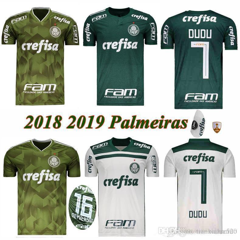 Acquista 2019 Palmeiras # 10 MOISES Maglia Da Calcio 18/19 Home Green # 9 BORJA Soccer Shirt Away White # 7 DUDU Club Palmeiras 3 Divise Da Calcio A ...