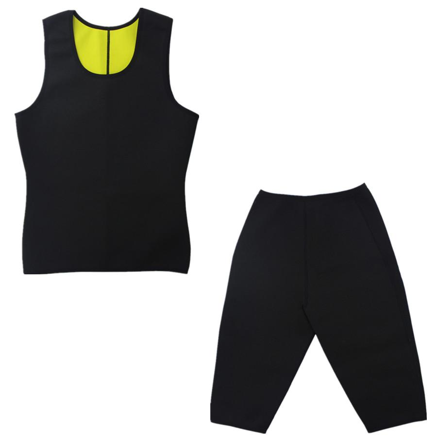 RiauDe Men's Hot Body Shapers (Vests+Pants) Neoprene Panties waist Slimming Pants & Vests Super Stretch Super control pants
