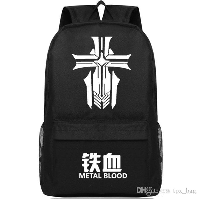 Azur Lane Plecak Metal Blood Daypack Gra Wojenna Gra SchoolBag Wypoczynek Plecak Sport Torba Szkolna Outdoor Day Pack