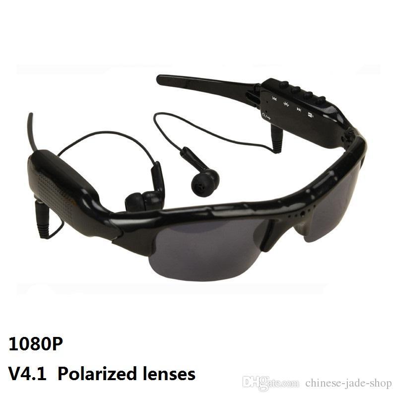SM07B 1080P Bluetooth Video Camera Polarized lenses Glasses Support DV MP3 Music Phone Calls TF Cards Mobile Eyewear Recorder Sunglasses 1pc