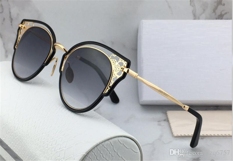 Frame Fashion Box Style Neuf Cat Designer JC Eye Sunglasses creux Femmes Protection de qualité Lunettes de protection avec Dhelia RVvea d'origine